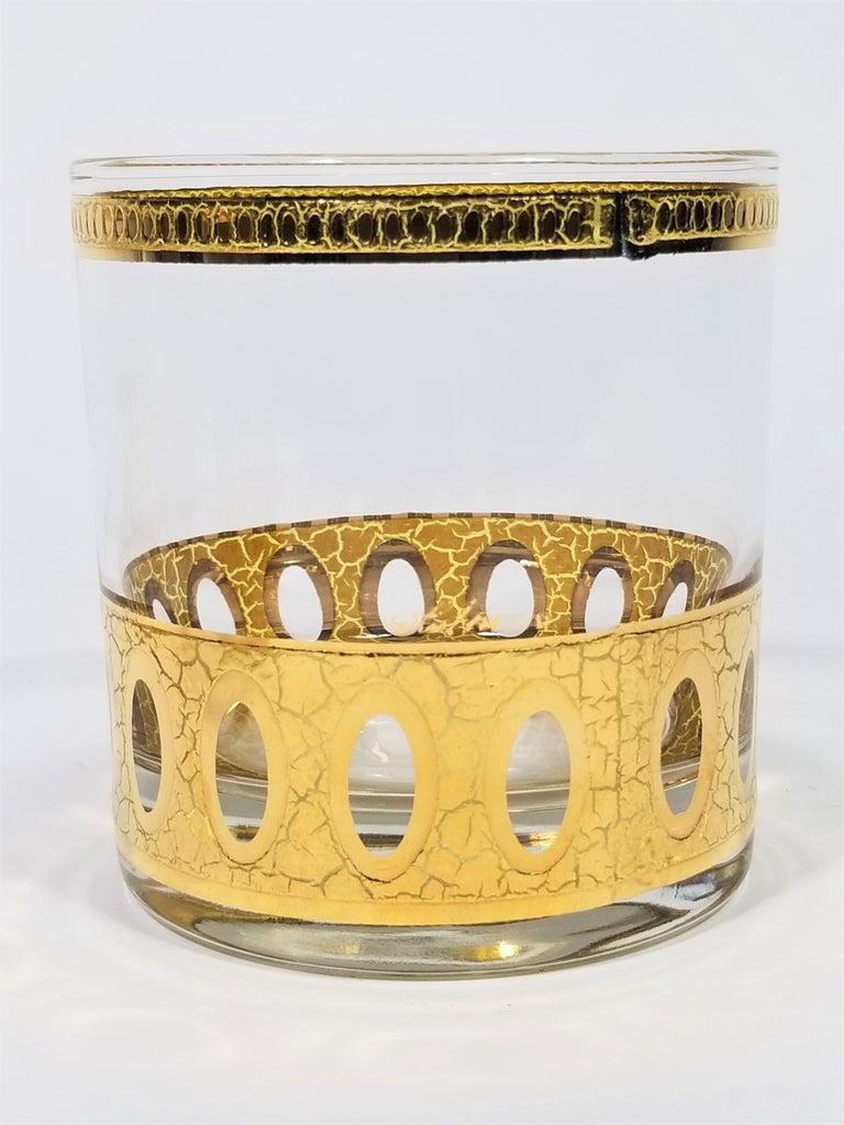Culver 22-Karat Gold Signed Glassware Barware Midcentury Set of 4 For Sale 4