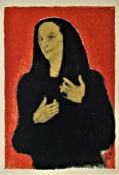 Portrat der Bildhauerin Germaine Richier