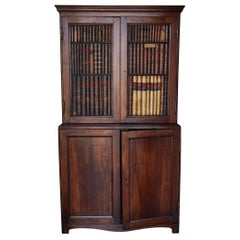 Early 19th Century Italian Cupboard with False Book Spines
