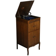 Cupboard Gramophone Oak, circa 1920 Original