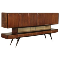 Cupboard Veneered Wood, Italy, 1950s-1960s