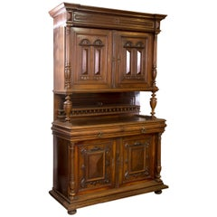 Cupboard. Walnut, metal. 19th century.