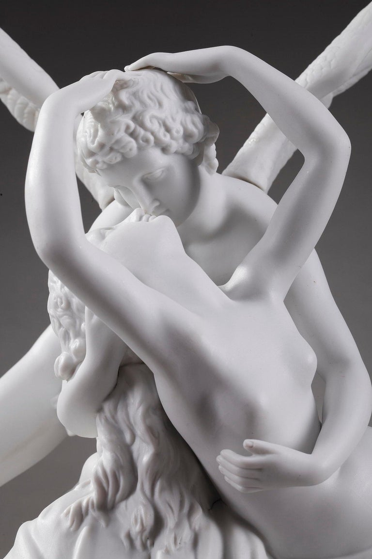 Neoclassical Cupid and Psyche by Scheibe-Alsbach Manufactory