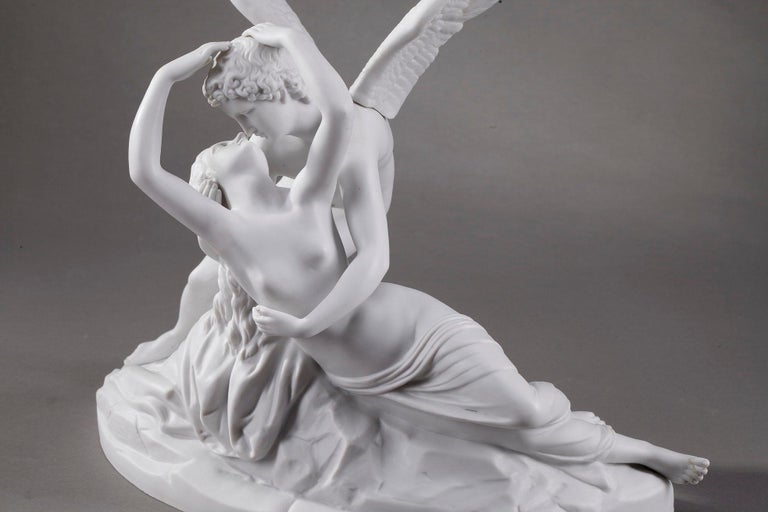 Cupid and Psyche by Scheibe-Alsbach Manufactory In Good Condition In Paris, FR