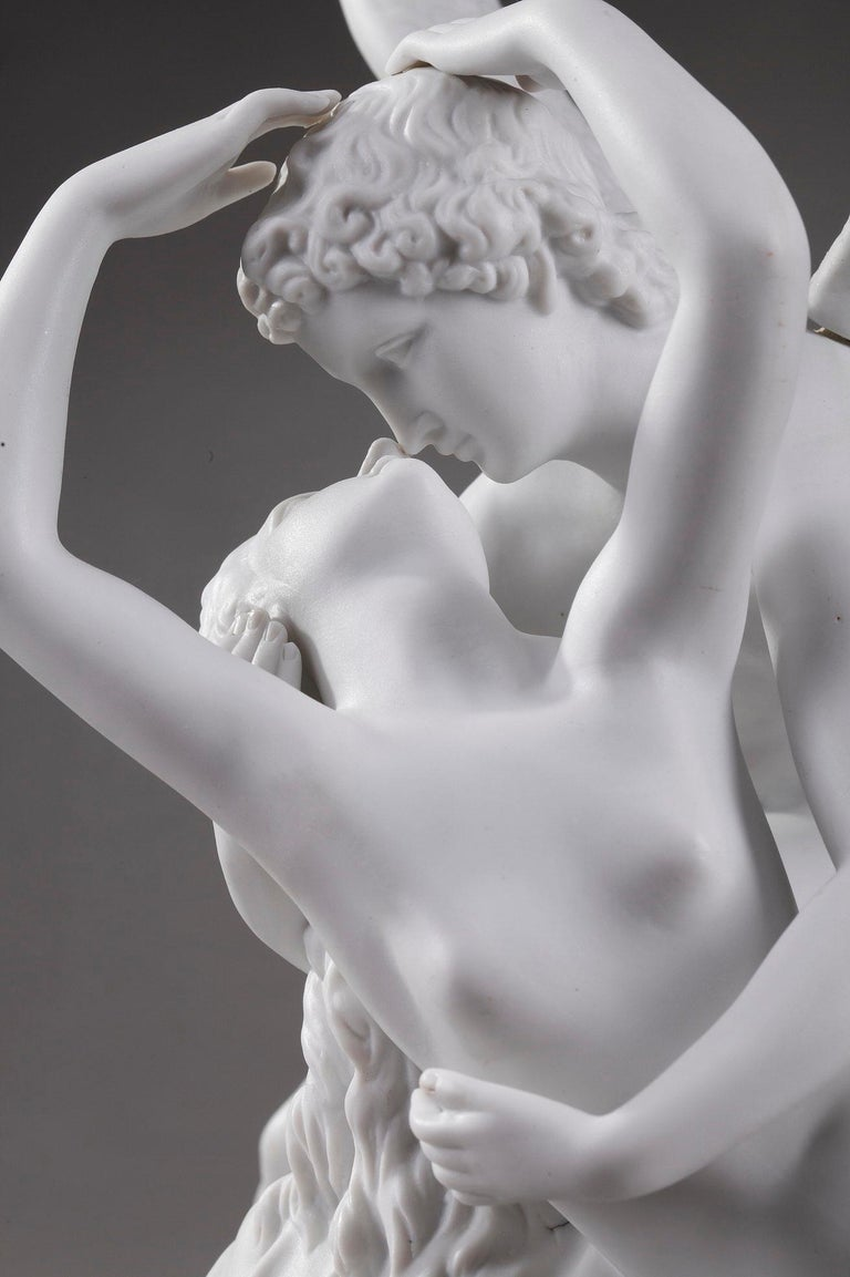 19th Century Cupid and Psyche by Scheibe-Alsbach Manufactory