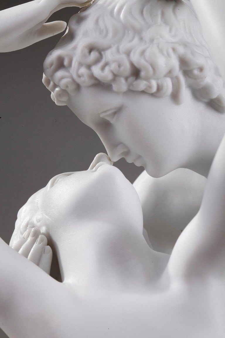 Porcelain Cupid and Psyche by Scheibe-Alsbach Manufactory