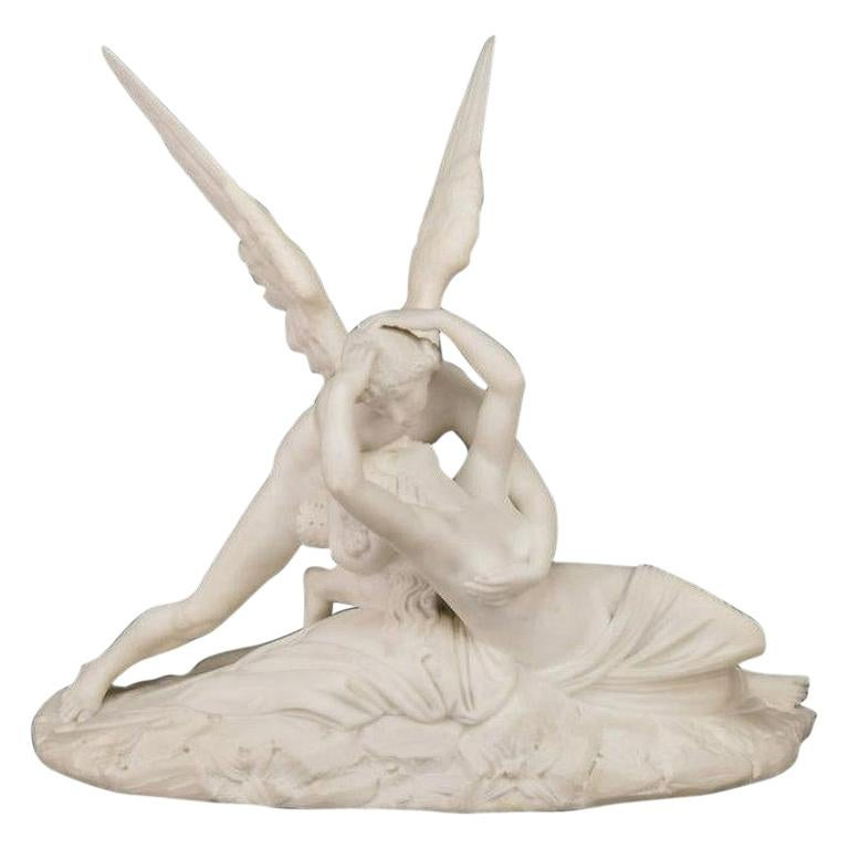 Cupid and Psyche Marble Sculpture after Antonio Canova