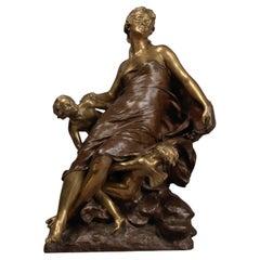 'Cupid & Psyche' an Important Bronze Figure by François-Raoul Larche