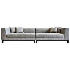 Cupido Large Gray Sofa by Bosco Fair