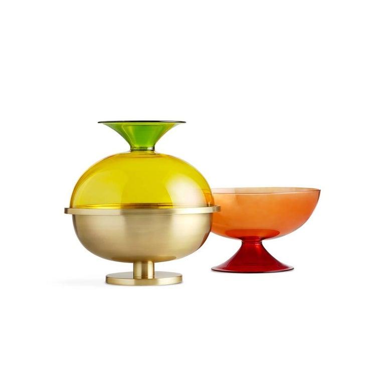 Italian Cuppone Blown Glass Cup by Aldo Cibic For Sale