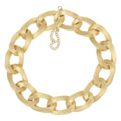 Curb Chain Bracelet, 18 Karat Yellow Gold Women's