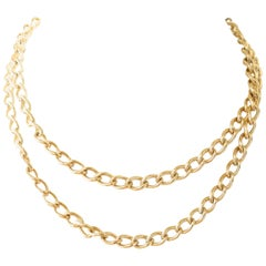Curb Link 10 Karat Gold Chain Necklace