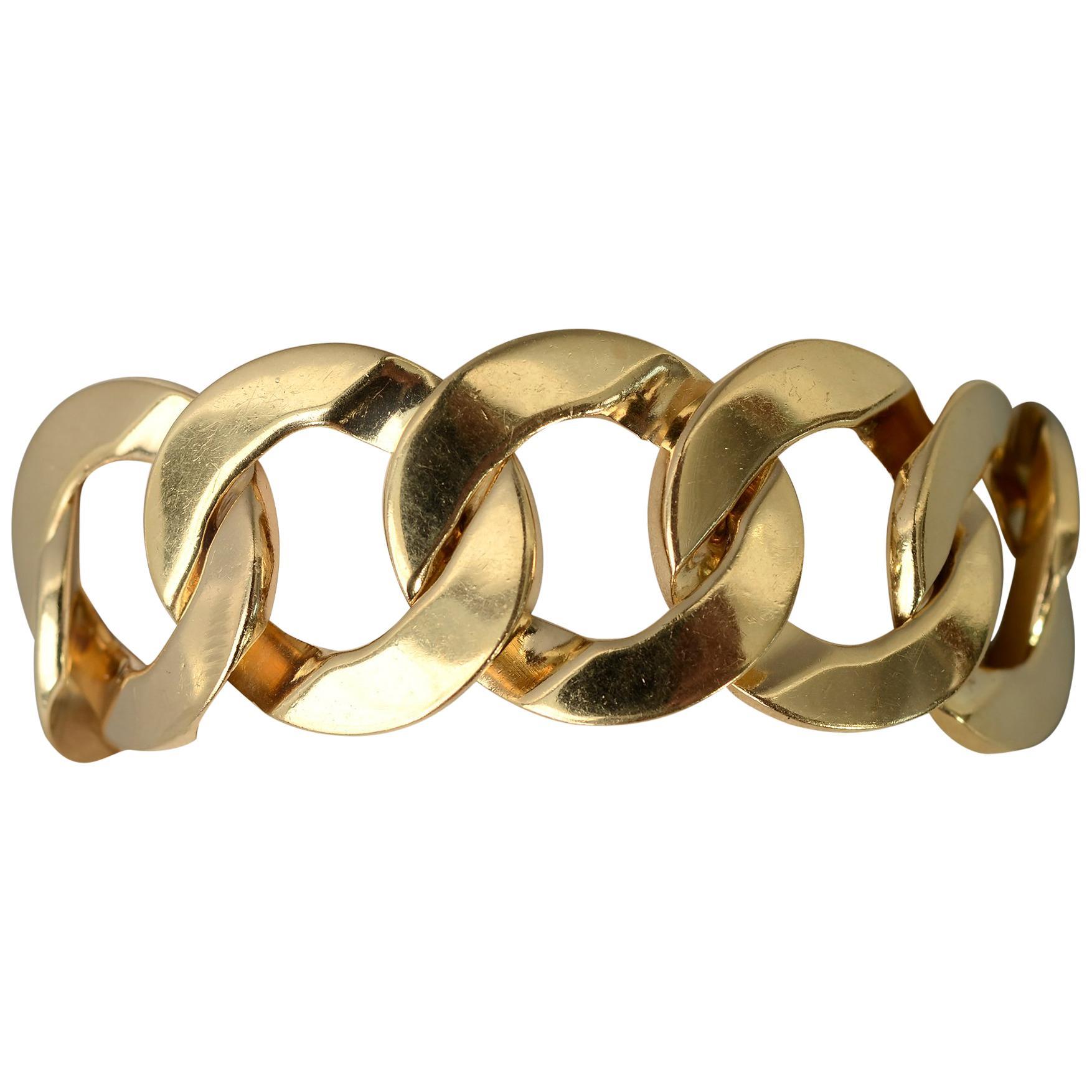 Curbchain Link Gold Bracelet