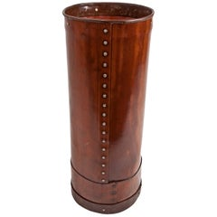 Cured Leather Umbrella Stand
