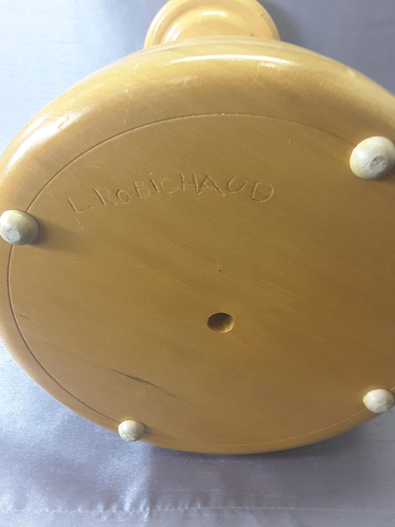 Curling Bonspiel Trophy Stand-Up Ashtray Early, 1960s For Sale 2