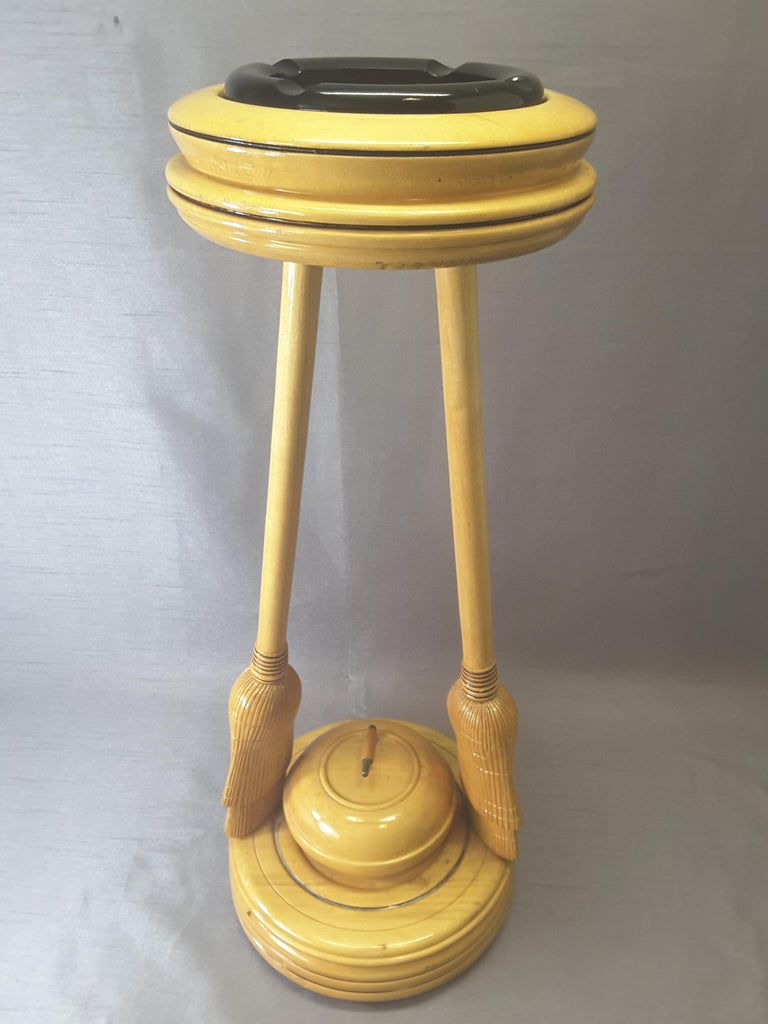 Curling Bonspiel Trophy Stand-Up Ashtray Early, 1960s For Sale 5