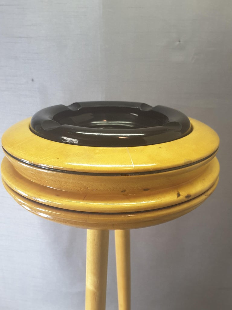 Mid-Century Modern Curling Bonspiel Trophy Stand-Up Ashtray Early, 1960s For Sale