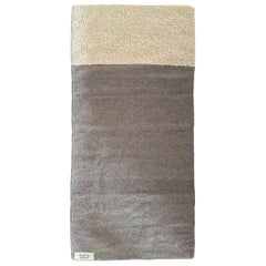 Curly Natural and Grey Short Runner Rug, in Stock