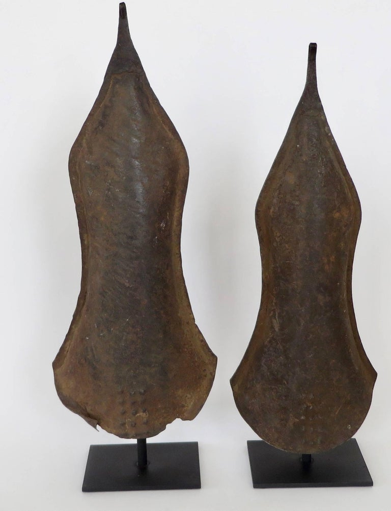 Folk Art Currency Gongs Sculptures from Congo, Nkutshu Culture, 19th Century For Sale