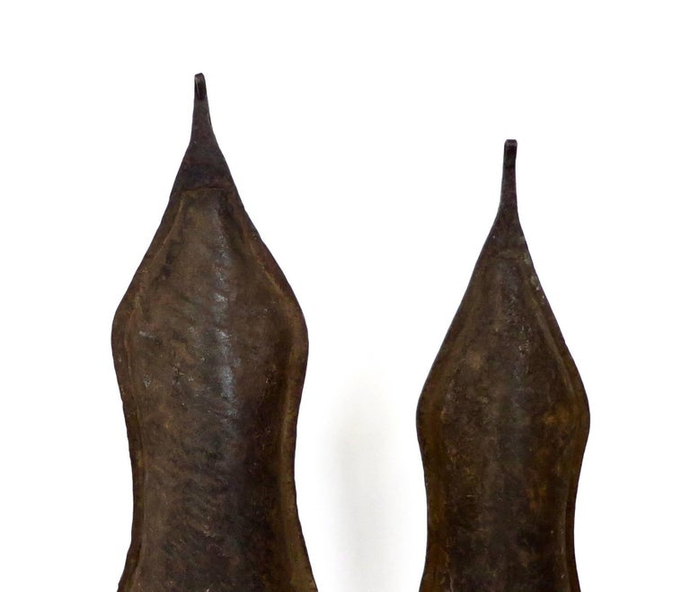 Congolese Currency Gongs Sculptures from Congo, Nkutshu Culture, 19th Century For Sale