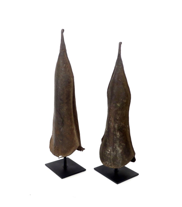 Iron Currency Gongs Sculptures from Congo, Nkutshu Culture, 19th Century For Sale