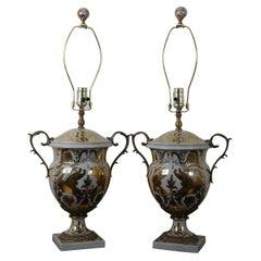 Currey & Co Tzarina 6410 Table Lamp Antique White Gold Porcelain Swan Trophy