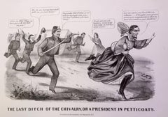 Capture of Jefferson Davis in Petticoats