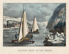 Ice-Boat Race on the Hudson.