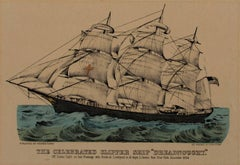 """The Celebrated Clipper Ship Dreadnought,"" Original Lithograph by Currier & Ives"