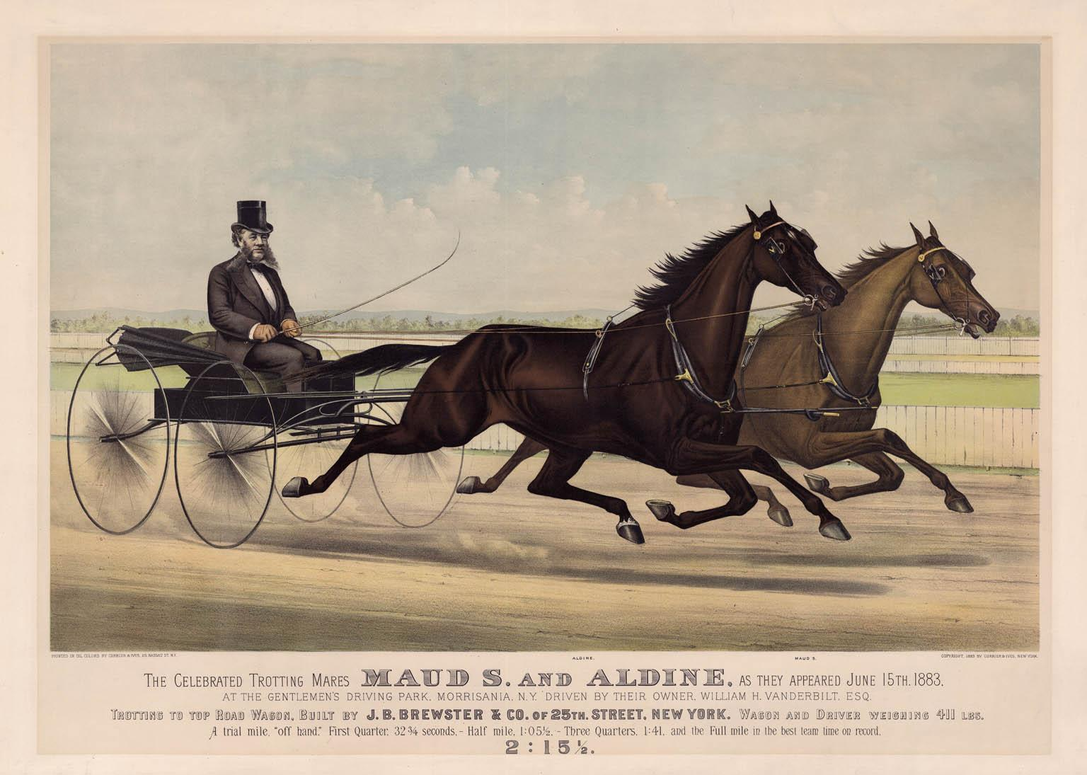 The Celebrated Trotting Mares Maud S. and Aldine...