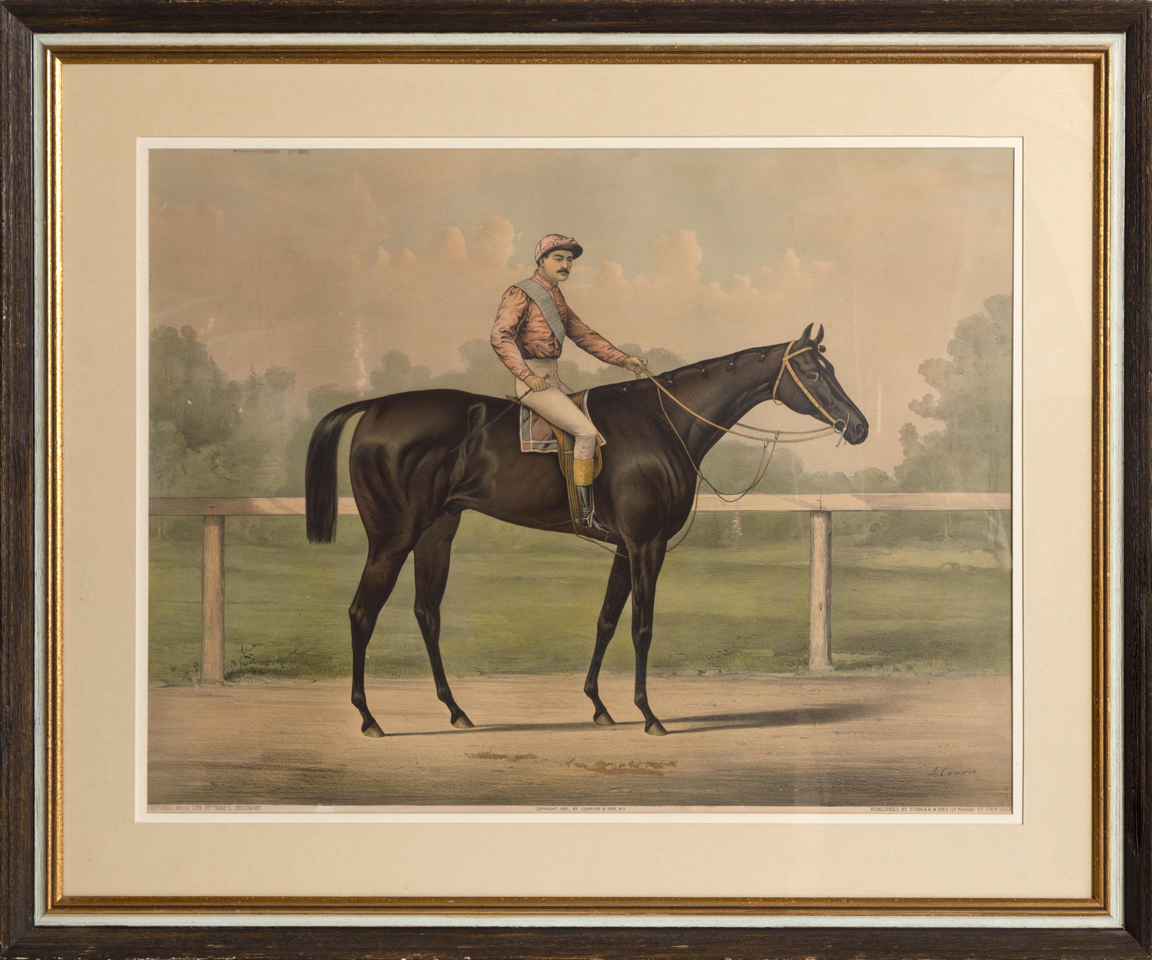 The Grand Racer Kingston by Spendthrift, by Currier & Ives 1891