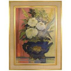 Curt Viberg '1908-1969', Swedish Painter, Still Life with Flowers, Oil on Board