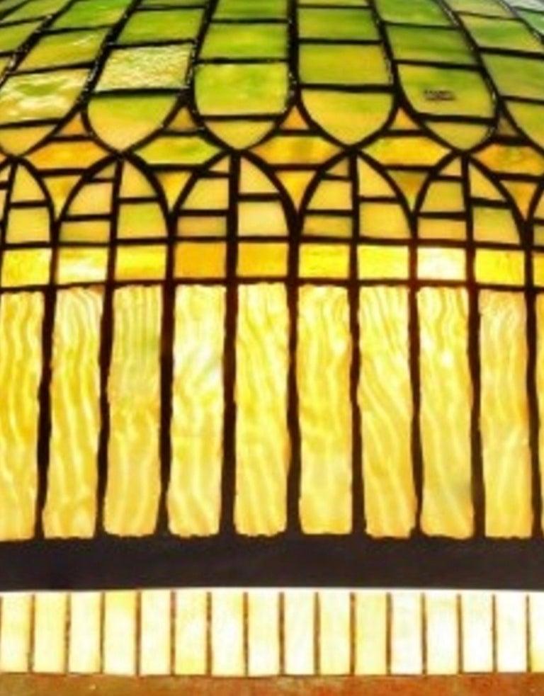"""Kronleuchter """"Curtain Border"""", gestempelt von Tiffany Studios, Herkunftsnachweis von Christie's NY 4"""