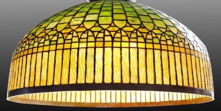 """Kronleuchter """"Curtain Border"""", gestempelt von Tiffany Studios, Herkunftsnachweis von Christie's NY 5"""