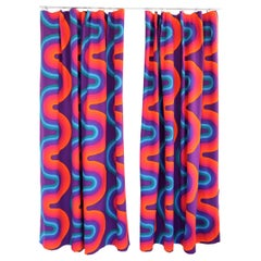 Verner Panton Set of Two Curtain Panels Mira-X Collection,  1960s