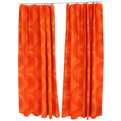 Verner Panton Set of Two Curtain Panels Tapestry Mira-X Collection, 1960