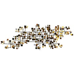 Curtis Jere Abstract Mixed Metal Wall Sculpture