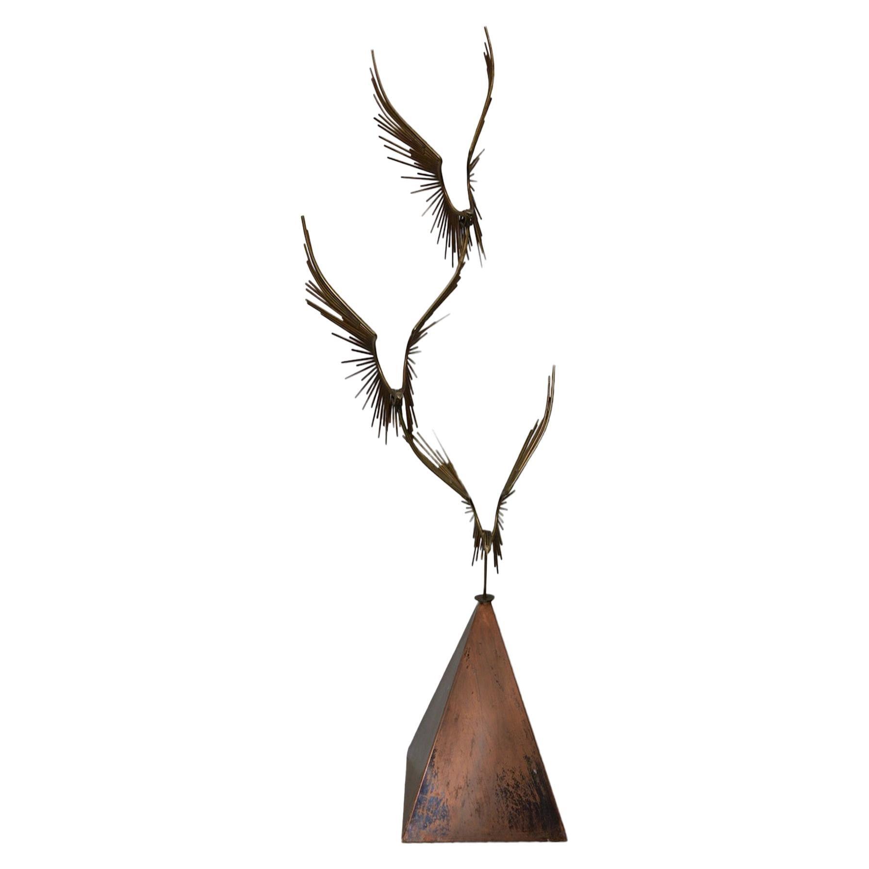 "Curtis Jere ""Birds in Flight"" Bronze Sculpture, circa 1976"