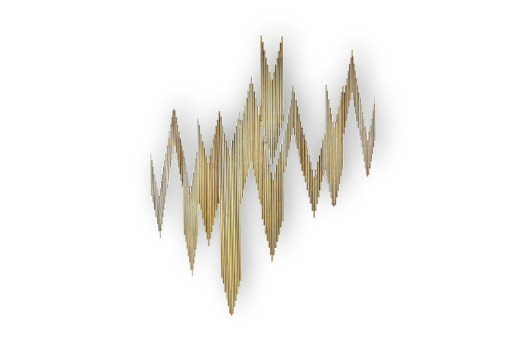 Curtis Jeré Brass Abstract Wall Sculpture 2