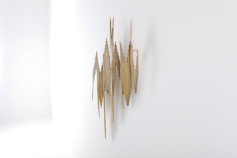 Curtis Jeré Brass Abstract Wall Sculpture 5