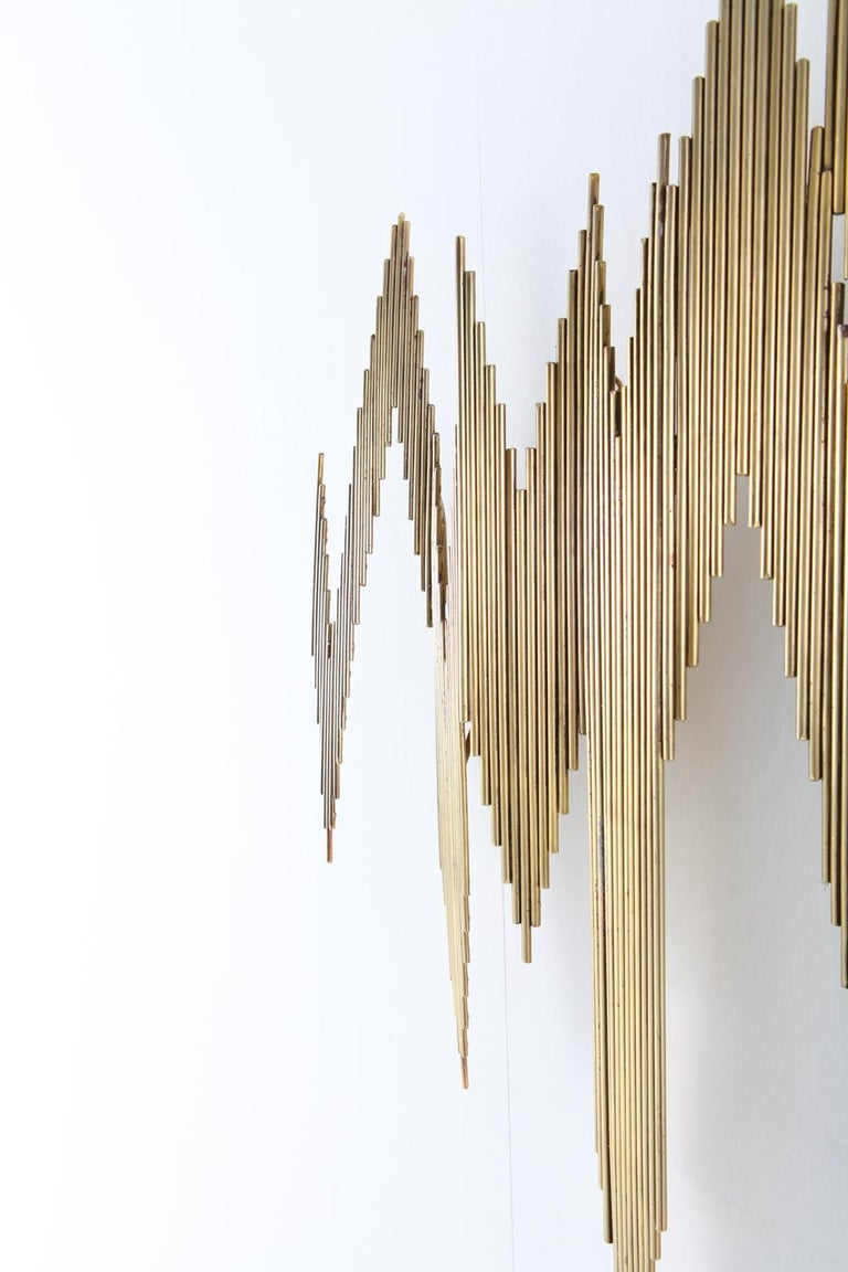 Curtis Jeré Brass Abstract Wall Sculpture 6
