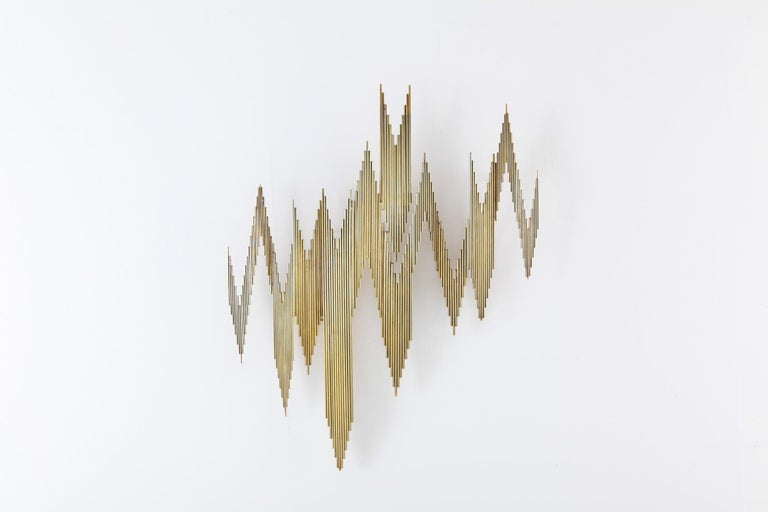 Curtis Jeré Brass Abstract Wall Sculpture 7
