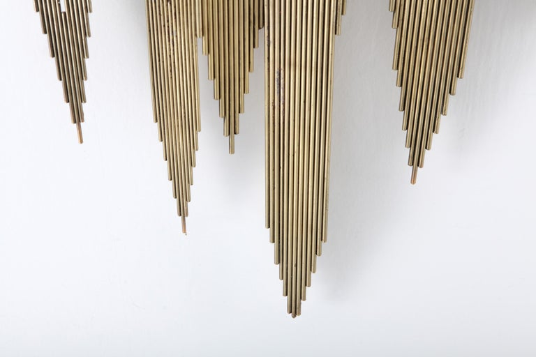 Curtis Jeré Brass Abstract Wall Sculpture 8