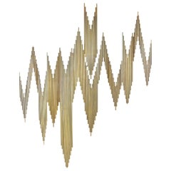Curtis Jeré Brass Abstract Wall Sculpture