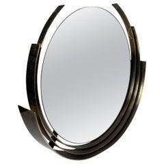 Curtis Jere Brass Circular Round Mirror