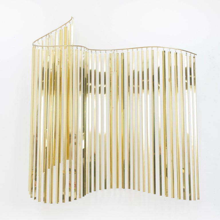 Curtis Jere Brass Kinetic Wave Wall Sculpture, Signed, 1983 For Sale 13