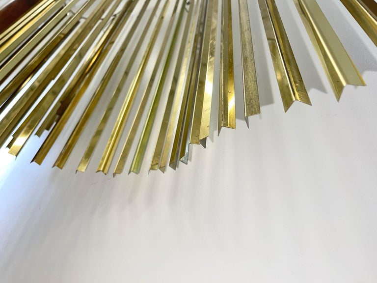 Curtis Jere Brass Kinetic Wave Wall Sculpture, Signed, 1983 For Sale 2