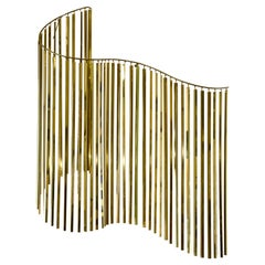 Curtis Jere Brass Kinetic Wave Wall Sculpture, Signed, 1983