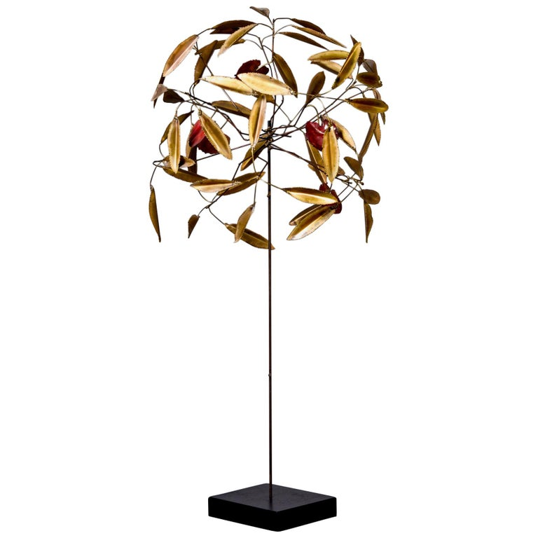 Curtis Jere Brass Topiary Tree For Sale
