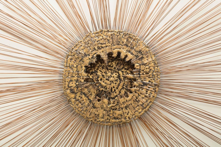 Curtis Jere Brass Wall Sculpture In Good Condition For Sale In New York City, NY
